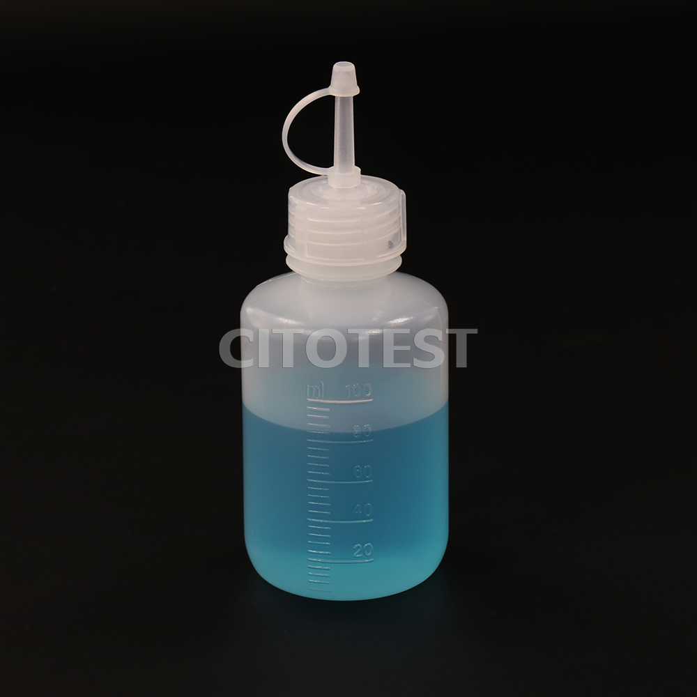 Drop-Dispensing Bottles with Tethered Caps, LDPE Bottle and PP Cap