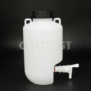 Carboys with Black Screw Closure, with Spigot and Carrying Bails, HDPE Material